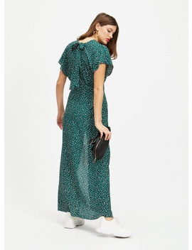 Green Animal Print Maxi Dress by Miss Selfridge