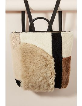 Shearling Patchwork Backpack by Primecut
