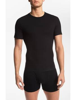 Crewneck Cotton Compression T Shirt by Spanx®