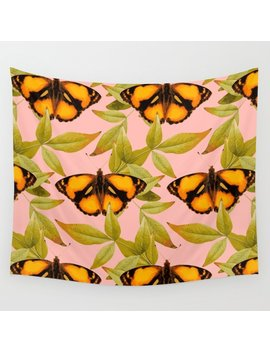 Butter Fly Wall Tapestry by