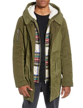 Seasonal Parka With Removable Lining And Detachable Faux Shearling Hood by Scotch & Soda