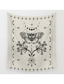 Magical Moth Wall Tapestry by