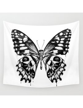Black Butterfly Wall Tapestry by