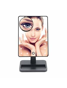 Lighted Makeup Mirror, Vanity Mirror With 20 Led Light And Removable 10 X Magnification Spot... by Eos&Helios