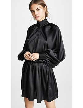 Satin Windbreaker Mini Dress by Jourden