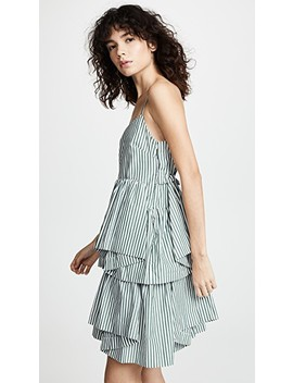 Striped Asymmetric Dress by Jourden