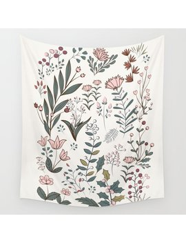 Winter Flowers Ii Wall Tapestry by