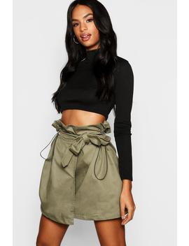Tall Toggle Utility Pocket Skirt by Boohoo