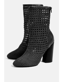 Helena Weave Boots by Topshop