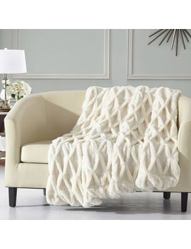 Beige Linus Throw Blanket by Pier1 Imports