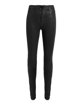 Lace Up Little Black Jeans by J Brand