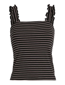 Carla Stripe Ruffle Tank by Intermix