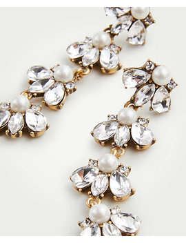 Crystal Pearlized Statement Earrings by Ann Taylor