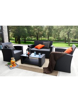Ebern Designs Edward 4 Piece Sofa Set With Cushions & Reviews by Ebern Designs