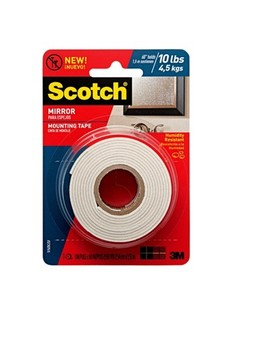 Scotch® Mirror Mounting Tape, 1 In X 60 In by Scotch