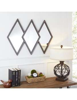 Holly Diamond Trio Wall Mirror by Generic