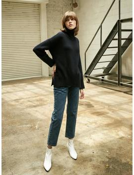 Collabotory Basic Slit Turtleneck Knit   Navy by Garmentory