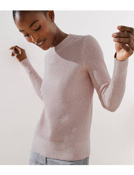 Petite Stitchy Back Keyhole Sweater by Loft