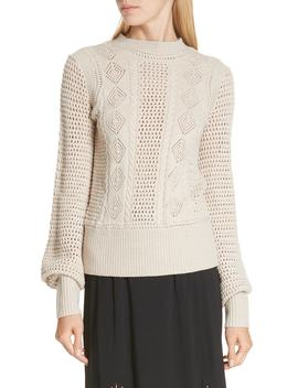 Pointelle Knit Sweater by See By ChloÉ