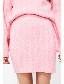 Bubblegum Pop Sweater Skirt by After Market