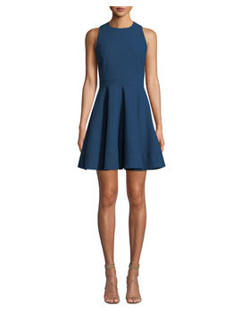 Araceli Scoop Neck Sleeveless Short Dress by Cinq A Sept
