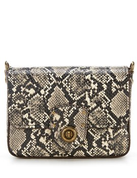 Millbrook Snake Skin Chain Cross Body Bag by Lauren Ralph Lauren