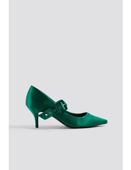 Satin Buckle Pumps by Na Kd Shoes