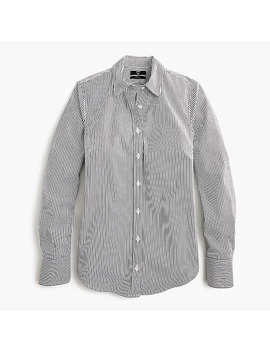 Petite Slim Stretch Perfect Shirt In Classic Stripe by J.Crew