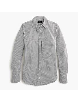 Petite Slim Stretch Perfect Shirt In Classic Stripe by J.Crew