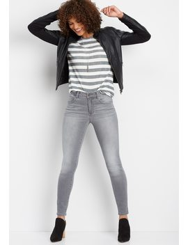 Everflex™ Gray High Rise Skinny Jean by Maurices