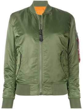 Classic Zipped Bomber Jacket by Alpha Industries