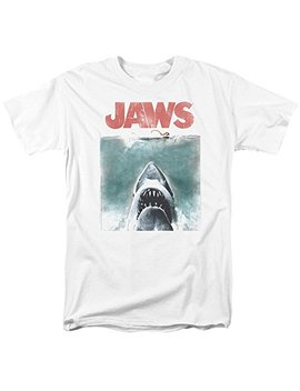 Jaws 1975 Shark Thriller Spielberg Movie Distressed Color Poster Adult T Shirt by 2 Bhip