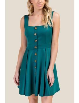 Elizabeth Button Front Dress by Francesca's