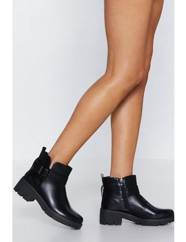 Side Note Biker Boot by Nasty Gal