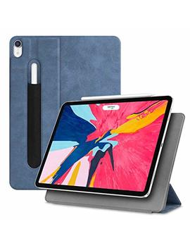 "Fintie Magnetic Slim Case For I Pad Pro 11"" 2018 [Supports Apple Pencil 2nd Gen Charging Mode]   Lightweight Stand Cover With [Secure Pencil Pocket] Auto Sleep/Wake, Magnetic Attachment, Rustic Blue by Fintie"