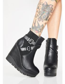 Don't Blink Buckle Boots by Legend Footwear