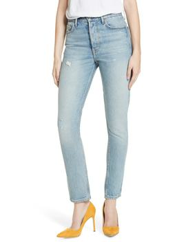 Karolina Patched High Waist Skinny Jeans by Grlfrnd