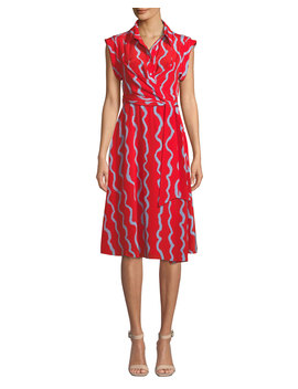 Avery Printed Silk Button Front Shirtdress by Diane Von Furstenberg