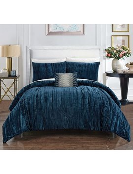 Chic Home Kerk 4 Piece Comforter Set Crinkle Crushed Velvet Bedding by Chic Home