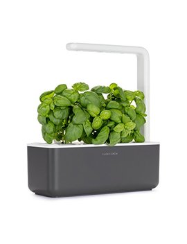 Click & Grow Smart Garden 3 Indoor Gardening Kit (Includes Basil Capsules), Grey by Click And Grow