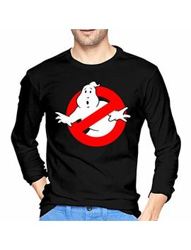 Albert J Men's The Real Ghost Busters Long Sleeve T Shirts Black by Albert Jodie