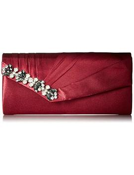 Jessica Mc Clintock Sage Pleated Evening Clutch With Rhinestone Detail by Jessica Mc Clintock