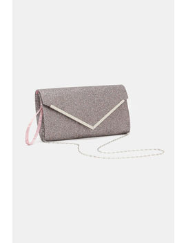 Glittery Envelope Clutch by Ardene