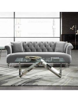 Armen Living Elegance Tufted Sofa by Hayneedle