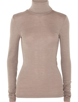 Wool And Silk Blend Turtleneck Sweater by Hanro