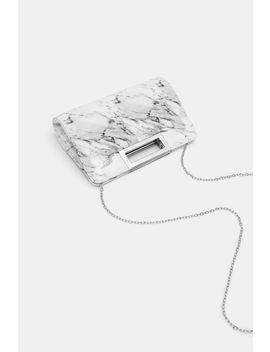 Marble Print Cut Out Handle Clutch by Ardene
