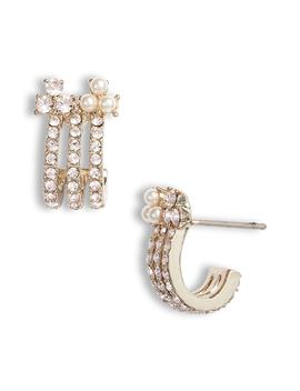 Small Hoop Earrings by Marchesa