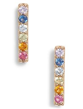 Rainbow Bar Earrings by Nadri