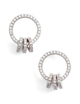 Open Circle Link Cubic Zirconia Earrings by Nordstrom