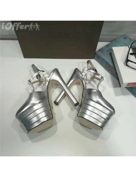 Latest Real Leather Woman's Sandals Slippers High Heels by I Offer